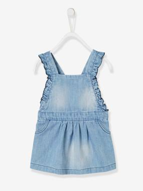 Baby-Dresses & Skirts-Dress with Frills on the Straps for Baby Girls