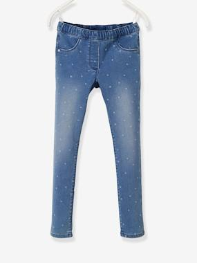 Girls-Jeans-Wide Hip, MorphologiK Treggings with Polka Dots for Girls