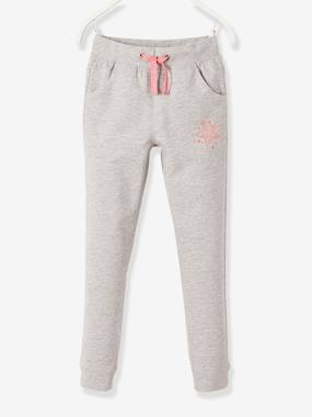 Vertbaudet Sale-Girls-Fleece Joggers for Girls