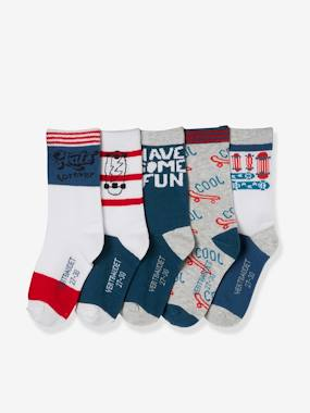 Boys-Underwear-Pack of 5 Pairs of Socks for Boys