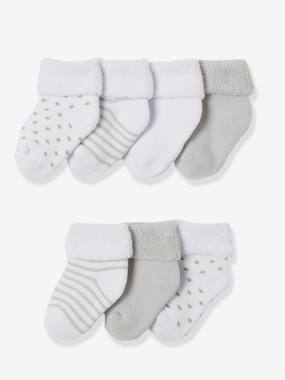 Baby-Socks & Tights-Newborn Baby Pack of 7 Pure Cotton Bootees