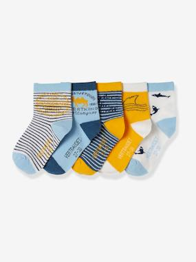Boys-Underwear-Pack of 5 Pairs of Trainer Socks for Boys