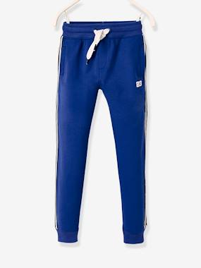 Sportwear-Joggers with Striped Panels on the Sides, for Boys