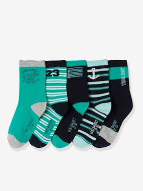 Sportwear-Pack of 5 Pairs of Socks for Boys
