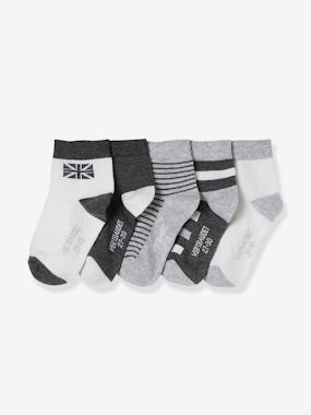 Boys-Underwear-Socks-Pack of 5 Pairs of Trainer Socks for Boys