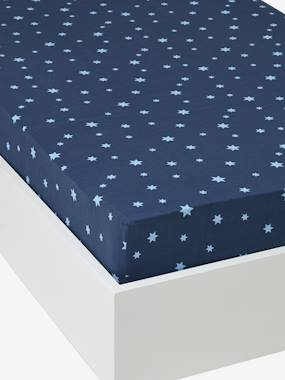 Bedding-Child's Bedding-Fitted Sheet, Stars in the Sky Theme