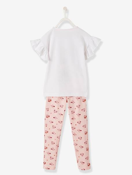 2-Piece Minnie® Pyjamas, Printed WHITE LIGHT SOLID WITH DESIGN - vertbaudet enfant