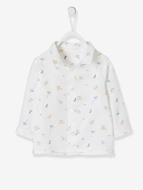 Baby-Blouses & Shirts-Shirt with Dinosaur Print for Baby Boys