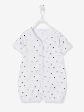 Baby-Pyjamas-Short Sleepsuit for Babies, Cotton, Press Studs on the Front