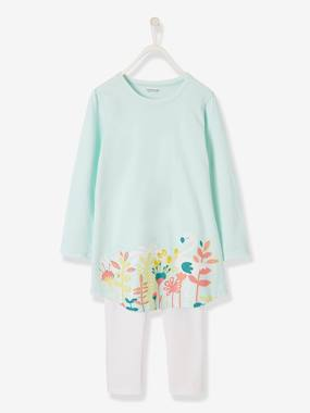 Fille-Pyjama, surpyjama-Chemise de nuit + legging fille Flamants