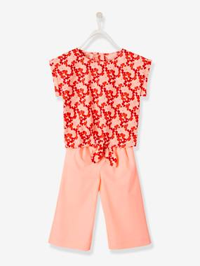 Bonnes affaires-Girls-Tops-Printed Top + Cropped Trousers Ensemble for Girls