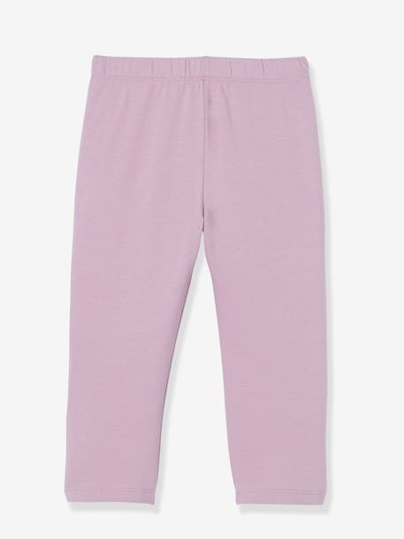 Pack of 2 Mid-Calf Leggings for Girls BLUE BRIGHT SOLID+GREY MEDIUM MIXED COLOR+PINK BRIGHT SOLID+PURPLE MEDIUM SOLID - vertbaudet enfant