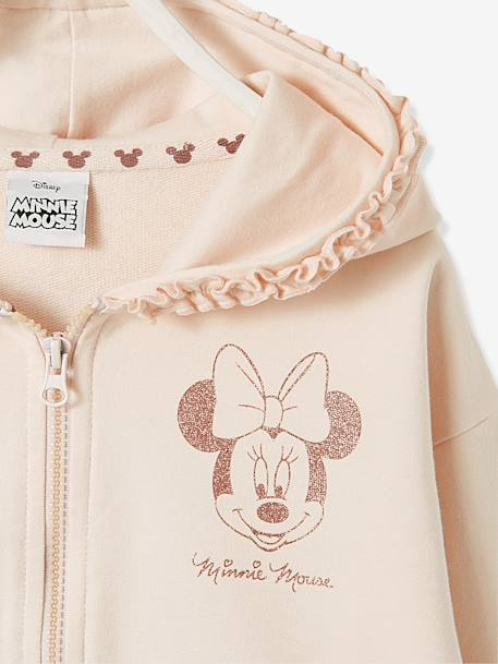 Ensemble Minnie® gilet zippé + pantalon en molleton ROSE PALE - vertbaudet enfant
