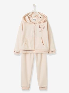 Licence-Fille-Ensemble Minnie® gilet zippé + pantalon en molleton