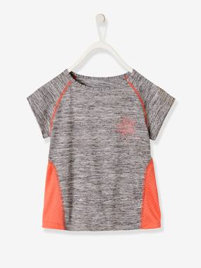 Girls-Sportswear-Short-Sleeved Sports T-Shirt for Girls, Star Motif