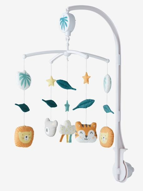 Jungle Party Musical Mobile Set GREEN MEDIUM SOLID - vertbaudet enfant
