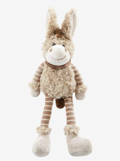 Plush Donkey Soft Toy Beige - vertbaudet enfant