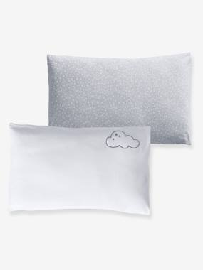 Bedding & Decor-Baby Bedding-Pillowcases-Set of 2 Pillowcases, Stars & Clouds Theme