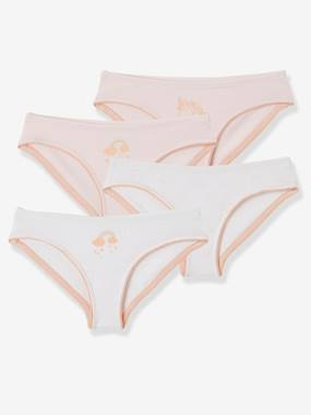 Girls-Underwear-Knickers-Pack of 4 Briefs for Girls