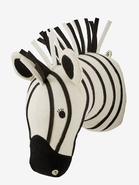 Zebra Head Trophy WHITE LIGHT SOLID - vertbaudet enfant