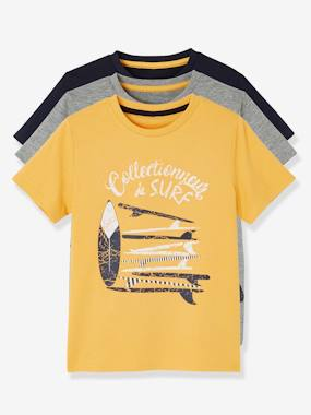 Boys-Pack of 3 Short-Sleeved T-Shirts for Boys