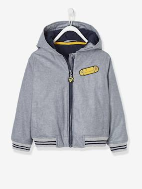 Vertbaudet Collection-Boys-Hooded Jacket for Boys