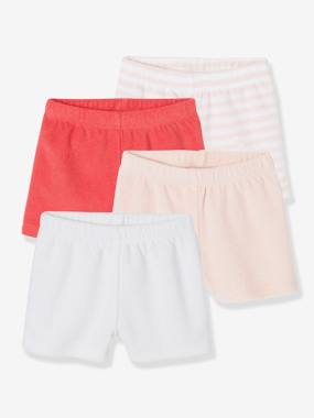 Baby-Bodysuits & Sleepsuits-Pack of 4 Baby Boys Terry Shorts