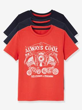 New collection preview-Boys-Pack of 3 Short-Sleeved T-Shirts for Boys