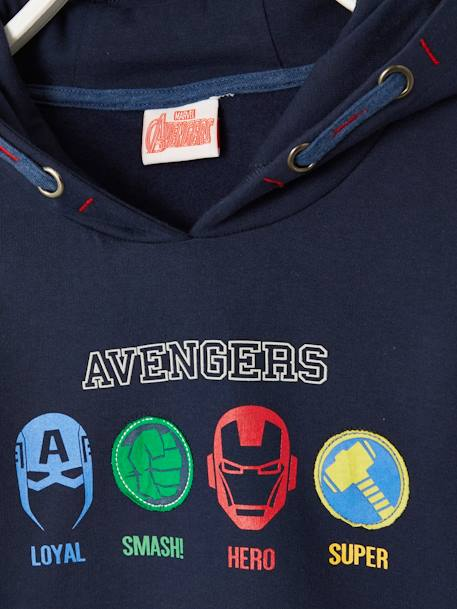 The Avengers® Sweatshirt with Hood BLUE DARK SOLID WITH DESIGN - vertbaudet enfant