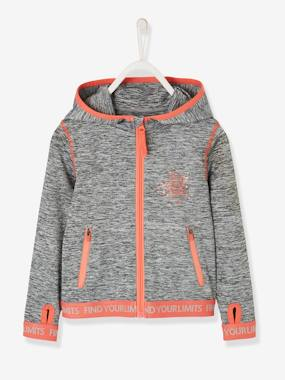 Nouvelle collection Vertbaudet-Sweat sport fille zippé
