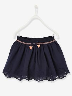 Girls-Skirts-Broderie Anglaise Skirt for Girls