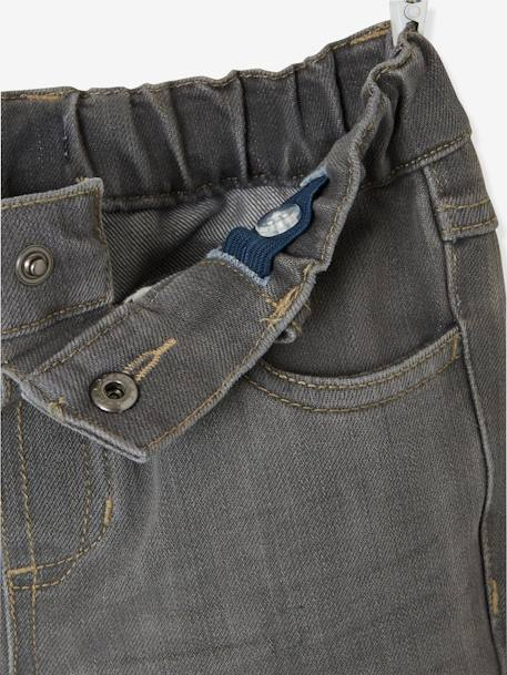 Boys Indestructible Straight-Cut Jeans BLUE BRIGHT SOLID+GREY MEDIUM WASCHED+Stone - vertbaudet enfant