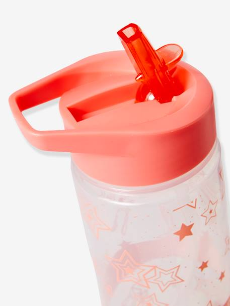Water Bottle, Star Motifs PINK MEDIUM SOLID WITH DESIG - vertbaudet enfant