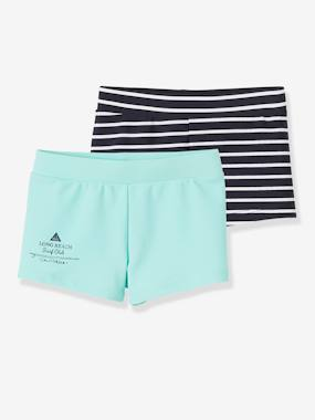 Boys-Swim & Beachwear-Pack of 2 Assorted Swim Shorts for Boys
