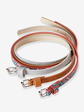 Girls-Accessories-Belts-Pack of 3 Belts for Girls
