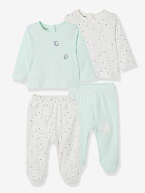 Vertbaudet Sale-Baby-Pack of 2 Sets of 2-Piece Baby Pyjamas, in Cotton