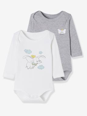 Vertbaudet Sale-Baby-Pack of 2 Disney® Bodysuits, Dumbo Motif