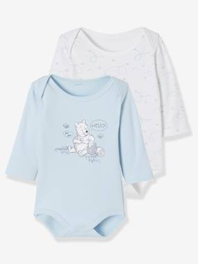 Vertbaudet Sale-Baby-Pack of 2 Disney® Bodysuits, Winnie the Pooh Motif