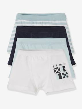 New collection preview-Boys-Pack of 4 Stretch Boxers for Boys, Navy