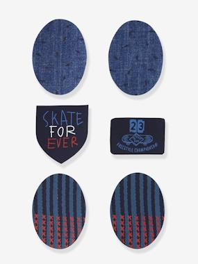 Boys-Accessories-Pack of 6 Iron-On Patches for Boys