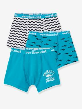 Boys-Underwear-Pack of 3 Stretch Boxers for Boys, Sharks