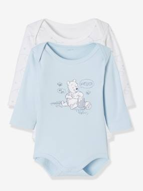 Baby-Bodysuits & Sleepsuits-Pack of 2 Disney® Bodysuits, Winnie the Pooh Motif