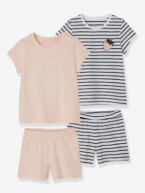 Mid season sale-Girls-Nightwear-Pack of 2 Mix & Match Short Pyjamas for Girls