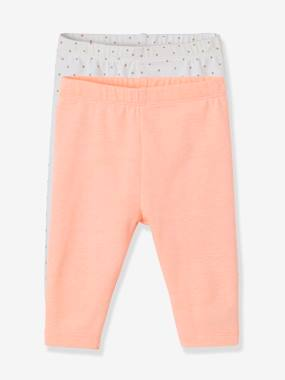 Basics and Multipacks-Baby-Pack of 2 Short Leggings for Baby Girls