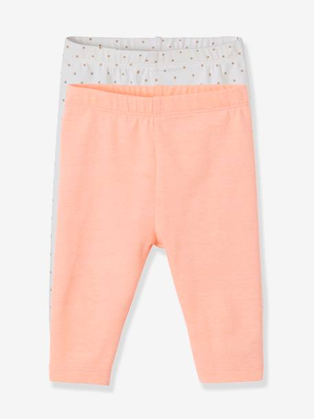 c06472c3830cd Pack of 2 Short Leggings for Baby Girls - orange bright 2 color/multicol ...