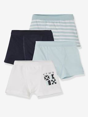 Basics and Multipacks-Pack of 4 Stretch Boxers for Boys, Navy