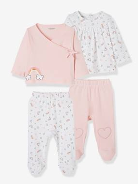 Basics and Multipacks-Pack of 2 Sets of 2-Piece Baby Pyjamas, in Cotton