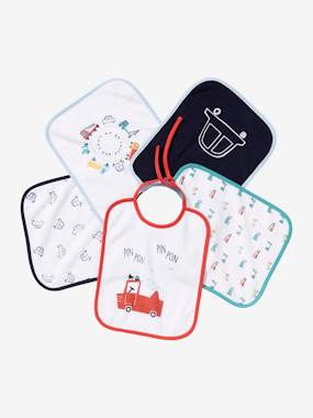 Nursery-Mealtime-Bibs-Pack of 5 Bibs for Babies