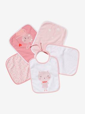 Nursery-Pack of 5 Bibs for Babies