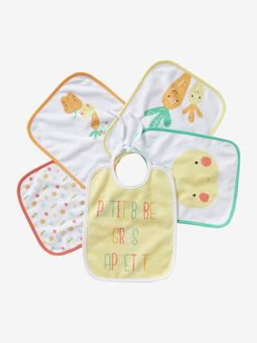 Vertbaudet Collection-Nursery-Pack of 5 Bibs for Babies
